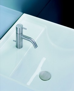Vola – Deck mount one handle basin mixer