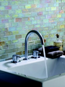 Vola – Deck mount two handle basin mixer